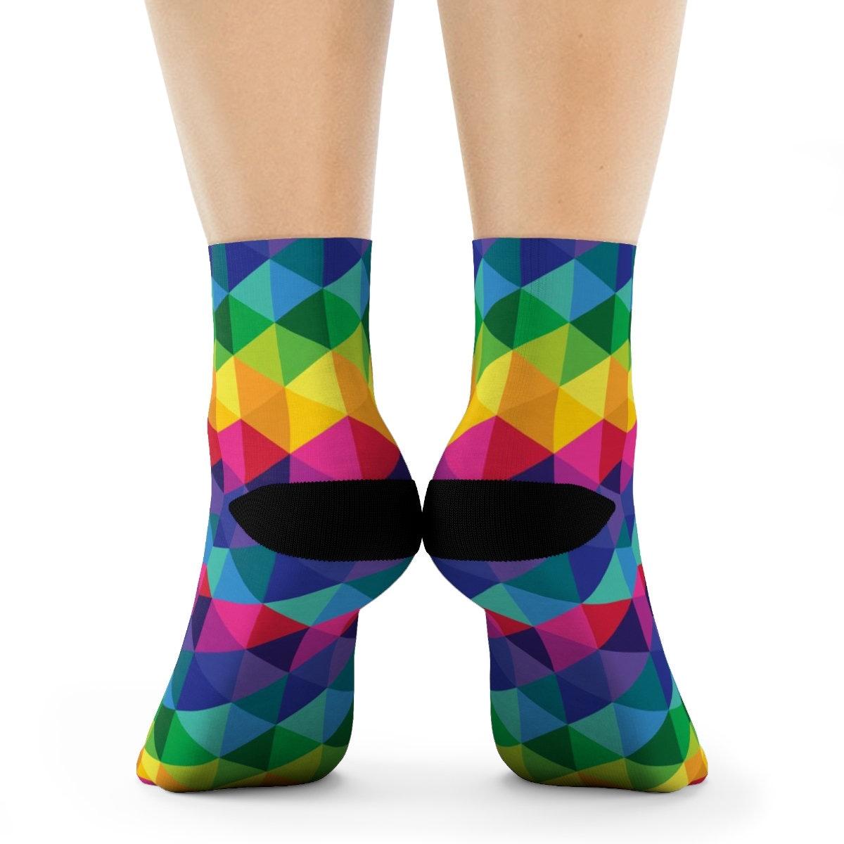 Colorful Crew Socks Rainbow Lovers Unite