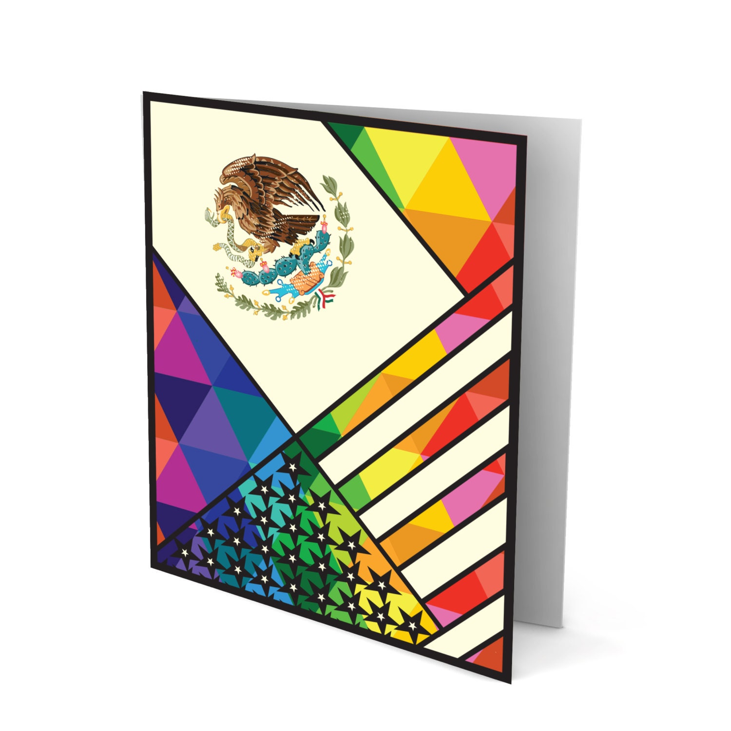 The Best Of Both Worlds Mexican American Greeting Card