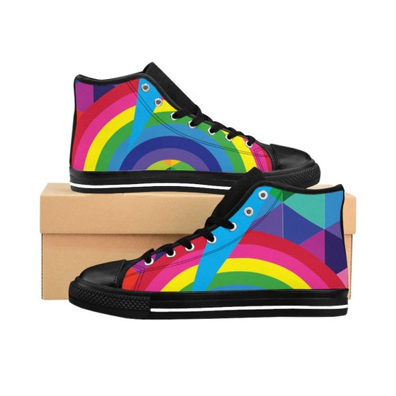 Women's Rainbow High-top Sneakers