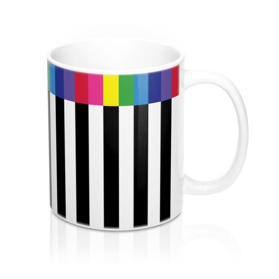 The Black and White Collection: Striped Mug 11oz