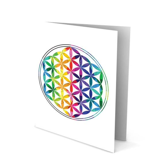 Flower of Life - Sacred Geometry Greeting Card