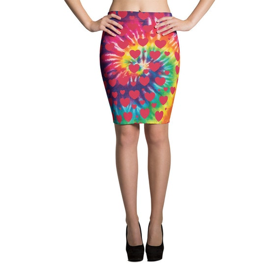 The Tie Dye Collection: Love Goes Around Pencil Skirt
