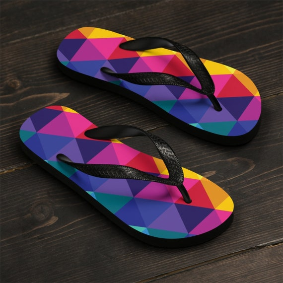 Colorful Unisex Thongs FlipFlops or Sandles Fun Beachwear for your Feet Toesies
