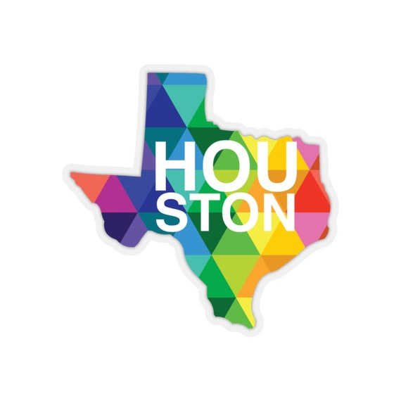 Houston Texas Kiss-Cut Stickers