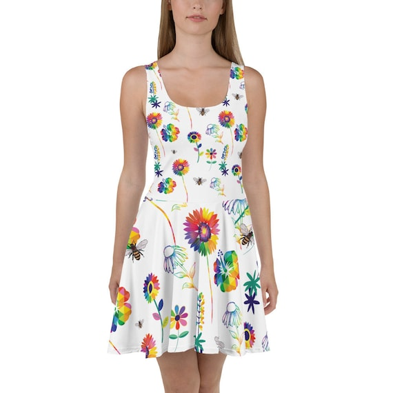 The Floral Collection: Spring Flowers Skater Dress