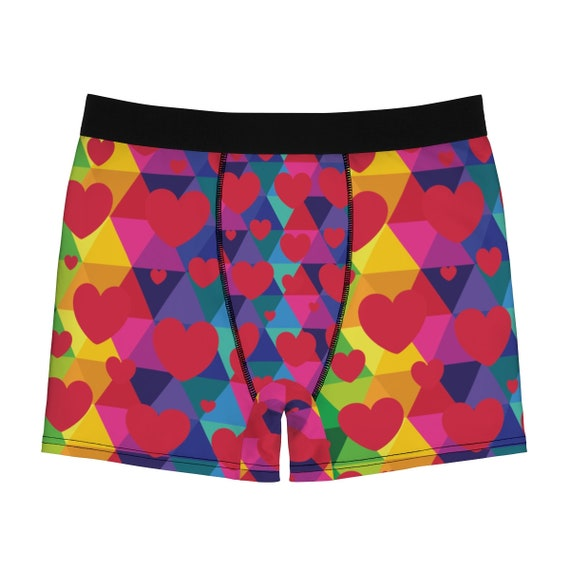 Hearts Men's Boxer Briefs - Valentines Gift for Him - Matching Set