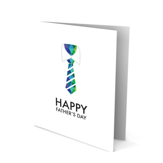 Happy Father's Day Greeting Card with a Colorful Tie