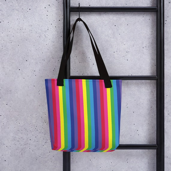 The Vivid Collection: Rainbow Striped Tote bag