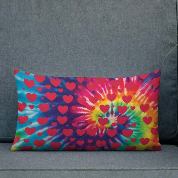 The Tie Dye Collection: Love Goes Around Premium Pillow