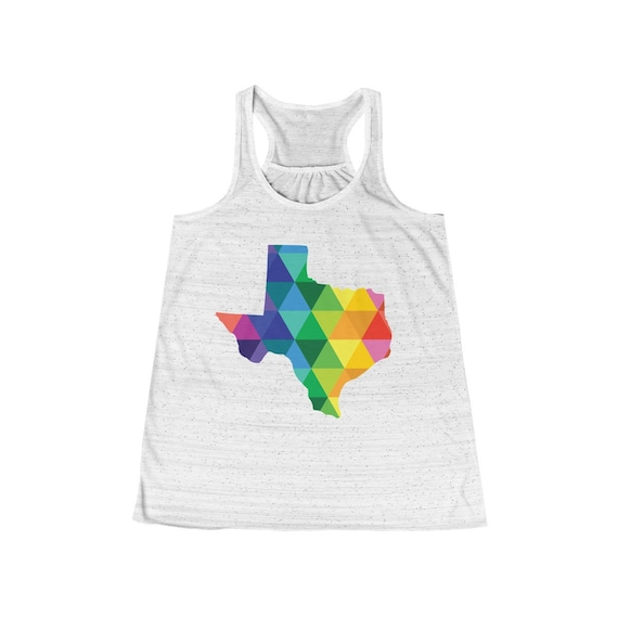 Texas Women's Flowy Racerback Tank Top - Love Texas - Texas shirts - State of Texas Apparel