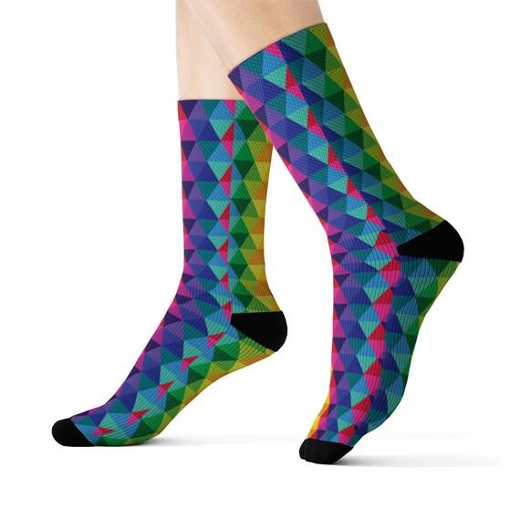 The Triangle Multicolored Socks