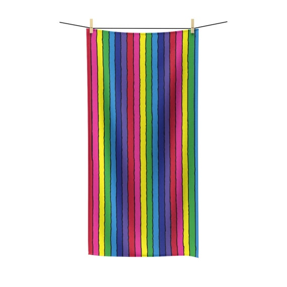The Vivid Collection: Rainbow Striped Polycotton Towel