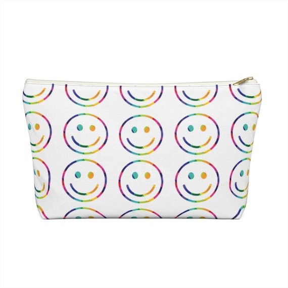 Smiley Face Accessory Pouch w T-bottom
