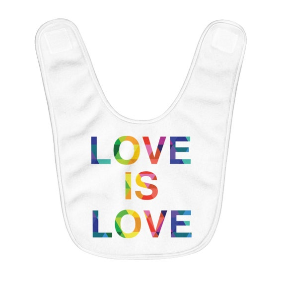Love Is Love Fleece Baby Bib