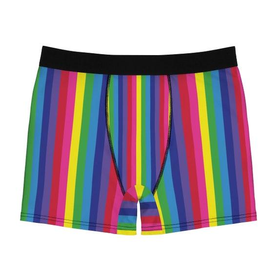 Rainbow Striped Men's Boxer Briefs