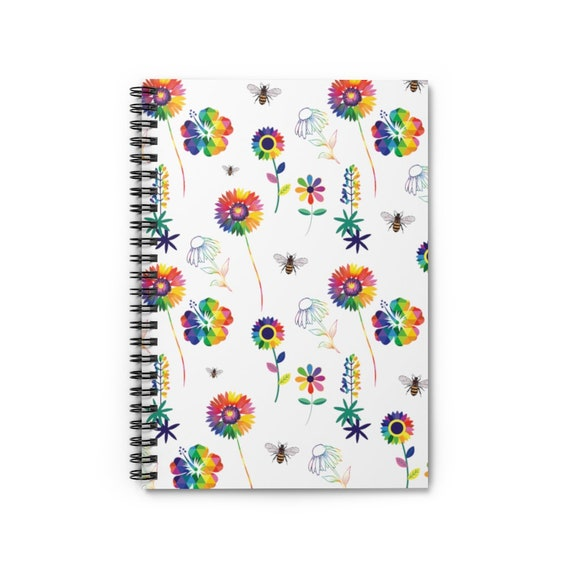 The Floral Collection: Spring Flowers Spiral Notebook - Ruled Line