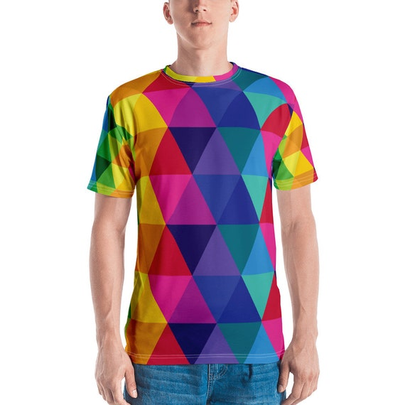 Geometric Men's T-shirt - All Over Print Tee