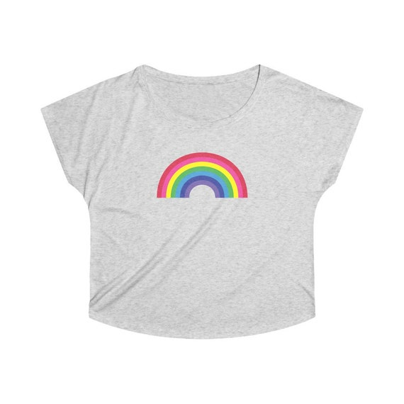 Women's Tri-Blend Dolman with a Big Rainbow on the Front - Sunshine and Rainbows Forever