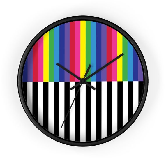 The Black and White Collection: Striped Wall clock
