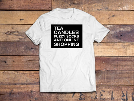 Tea Candles Fuzzy Socks and an Online Shopping Tshirt Gifts for Her