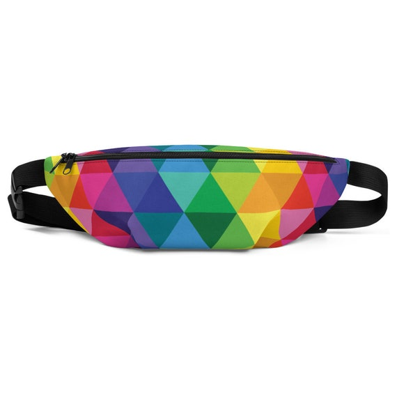 The Trio Fanny Pack - Triangle Waist Bag - Two Size Hip Pack - Multi Purse - Rainbow Bum Bag