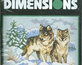 Dimensions A Pair Of Wolves Counted Cross Stitch Kit Daniel Gorman 6800