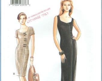 1996 Misses' Fitted Mock Wrap Dress Uncut Factory Fold Size 8,10,12 - Very Easy Very Vogue Sewing Pattern 9446