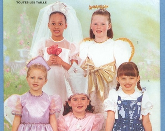 2001 Child's Dorothy Glinda the Good Witch Wizard of Oz Angel Bride Princess UC FF Size 2,3,4,5,6,6X - Butterick Sewing Pattern 6696