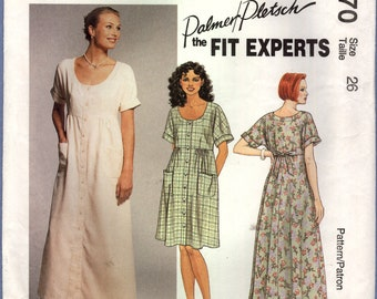 McCall/'s 6542 Sewing Pattern Dropped Waist Midi Summer Dresses All Sizes VTG UC