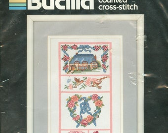 Imaginating Kit 431 1987 Roses and Forget-Me-Nots NIP DIY Counted Thread Needlework Kit 8.5x8.5