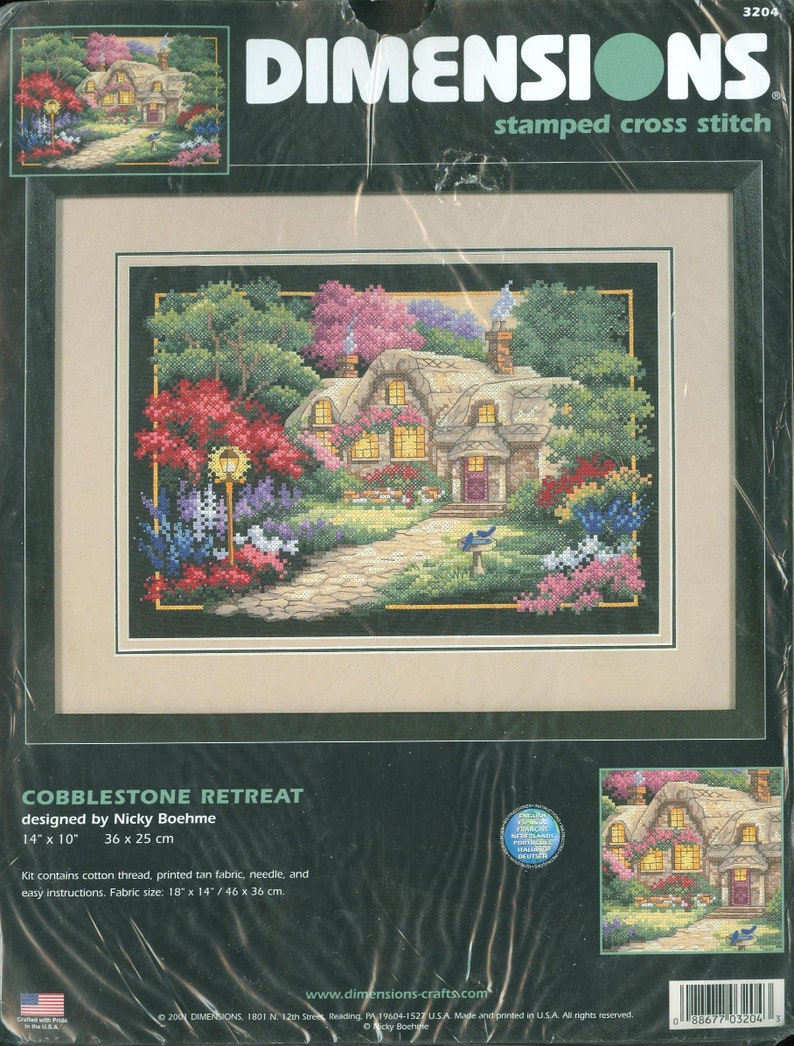 """Dimensions Cottage Retreat Needlepoint Kit-16/""""X12/"""" Stitched In Thread"""