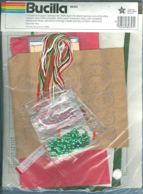 Bucilla Kit 82353 1990s Teddies Teddy Bears NIP DIY Set of 2 Door Knob Covers Vintage Felt Applique Stitchery Kit One size