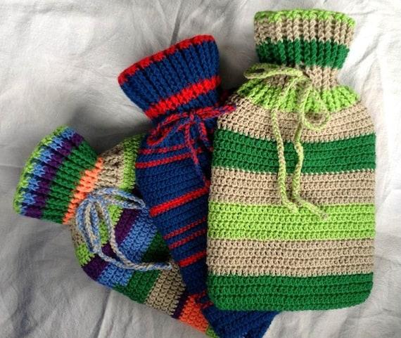Crochet Hot Water Bottle Cover Pattern Etsy