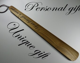 Shoe horn Wood shoe horn Personalized shoe horn Present for the wedding Fathers day gift Gift for men Boyfriend gift