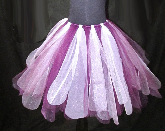 Plum and Princess Glitter Ribbon Tutu Skirt