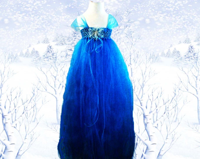 Elsa Frozen Themed Tulle Dress