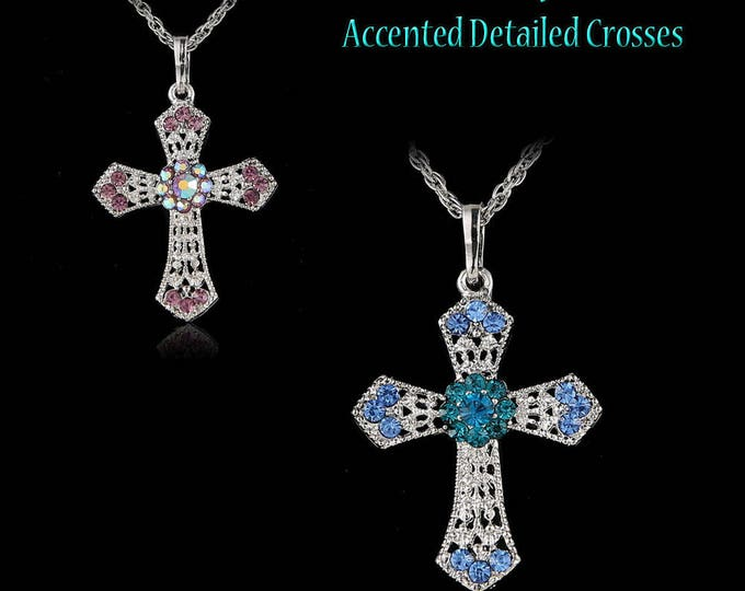 Crystal Cross Sweater Necklace Jewelry Long chain!