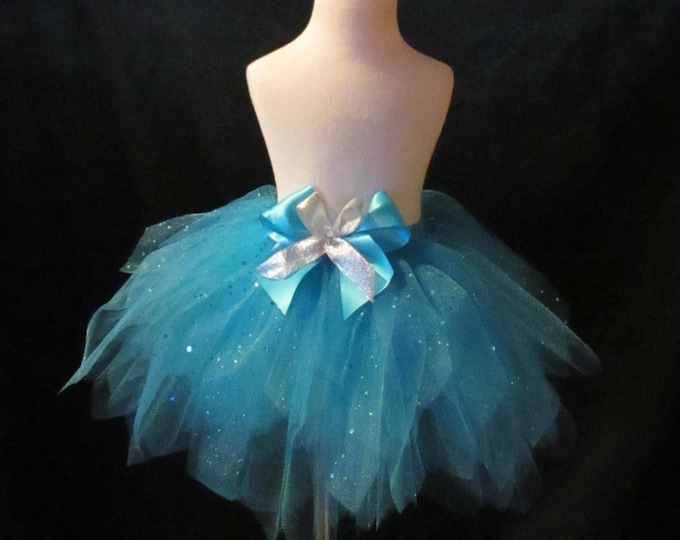 Haute Couture Tulle Turquoise Skirt
