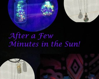 Fairy Dust Pendant Necklace Glows After Sunlight Exposure!