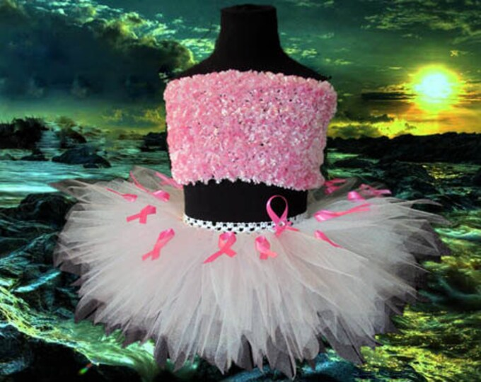 Pink Ribbons Breast Cancer Awareness Tutu Skirt