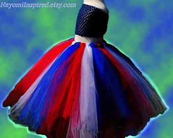 Red White and Blue Tutu Skirt