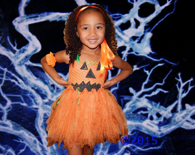 Halloween Jack O' Lantern Tutu Dress