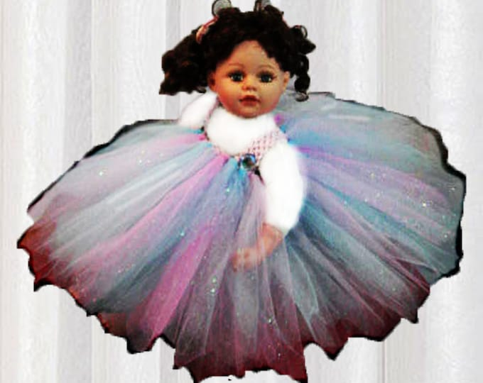 Baby Doll Pink and Blue Tutu