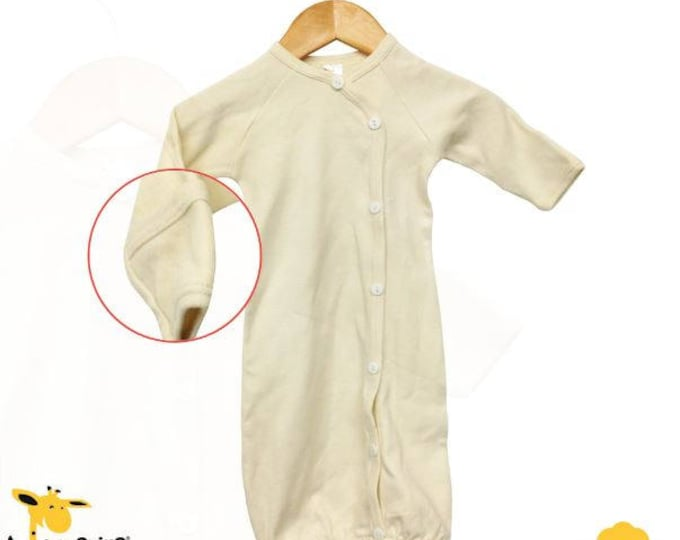All Cotton Natural Color Button Boutique Nightgown Ready for your Baby