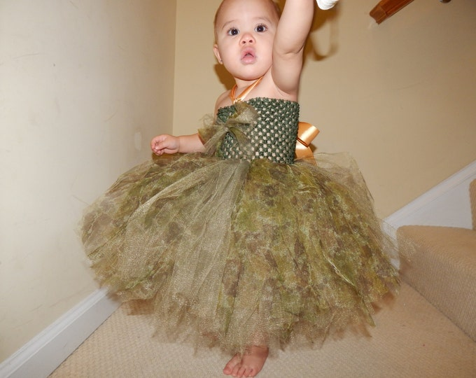 Be All You Can Be Camouflage Tutu Dress or Skirt
