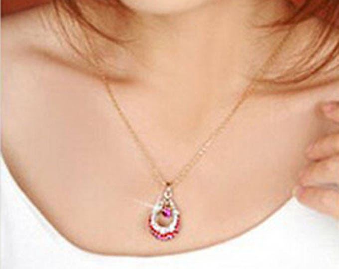 Stylish and Lovely Angel Teardrop / Waterdrop Necklace Jewelry