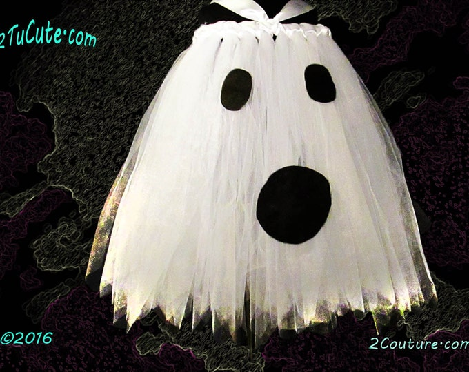 Child Sizes Ghost Tutu Dual Use