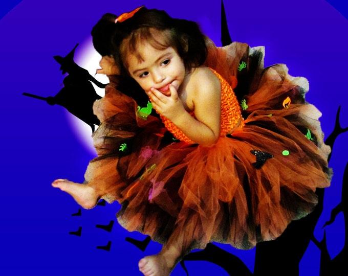 Halloween Glitter Accented Tutu