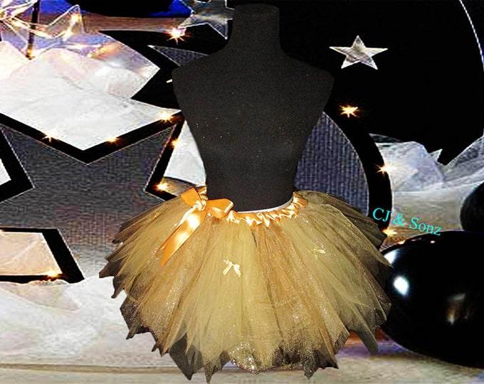 Ladies Golden Tulle Skirt