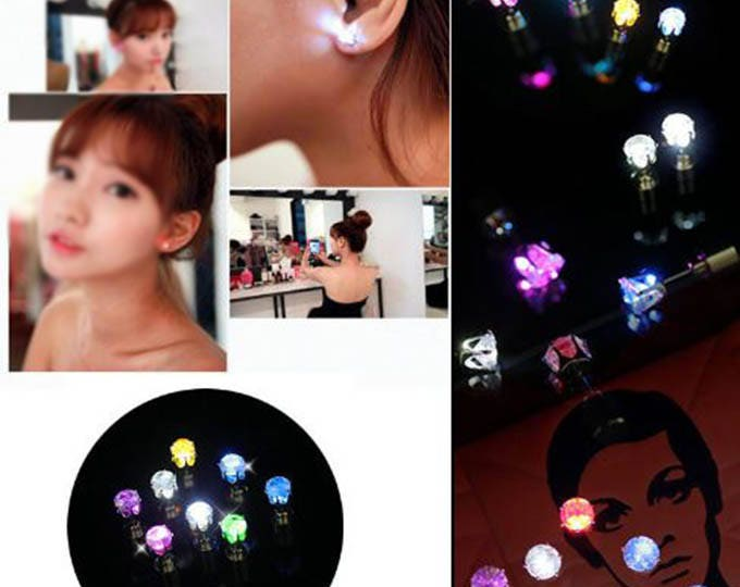Color Change LED Earrings Jewelry